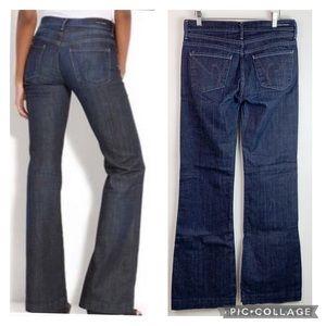 CoH Hutton medium rise wide leg dark jeans EUC